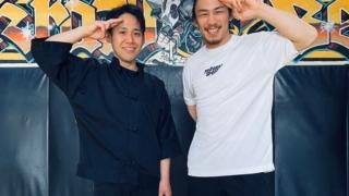 石井東吾先生と矢地祐介選手